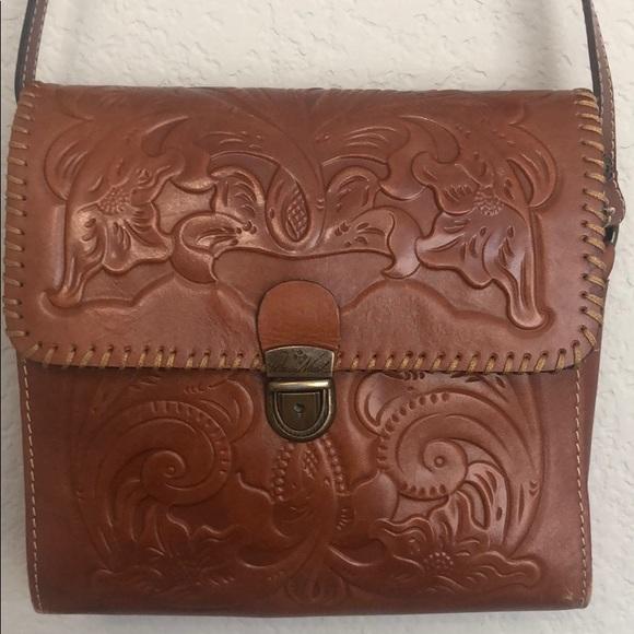 Patricia Nash Handbags - Patricia Nash Lanza Brown Leather Crossbody Bag